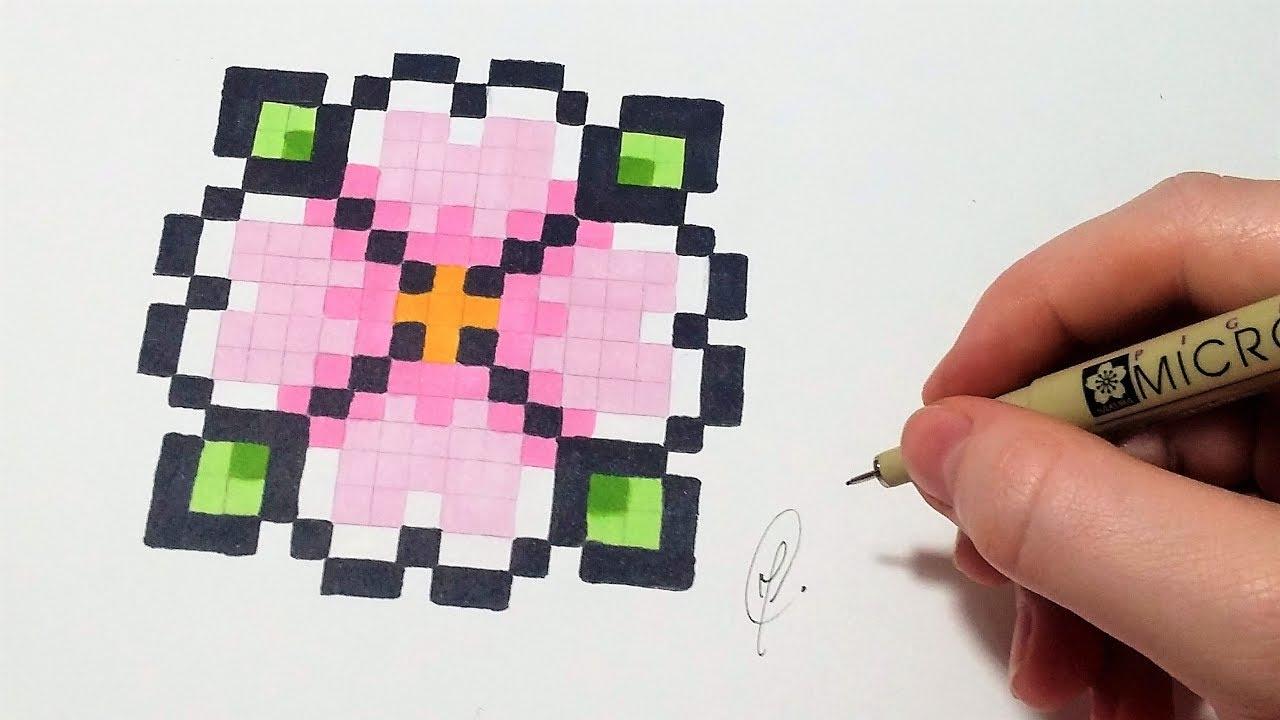 Pixel Art Fleur Facile