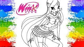 Desenhos para colorir Princesa Bloom Clube das Winx Pinturas de desenhos fofinhos de criança colorir