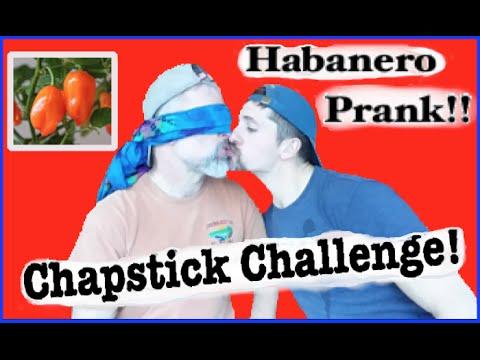 Boyfriend Chapstick Challenge -Hot Pepper Prank!!