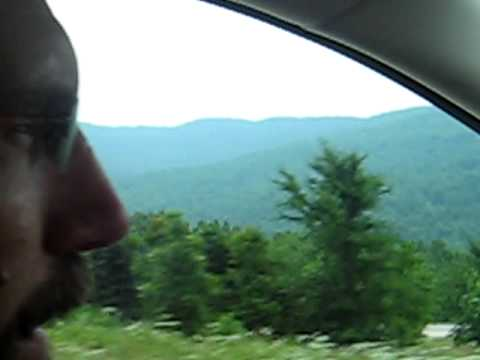 Driving in the Ozark Mountains of Arkansas