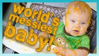 WORLD'S MESSIEST BABY! | Look Who's Vlogging: Daily Bumps (Episode 7)