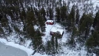 Drone footage shows the house Carl Beech bought in Sweden