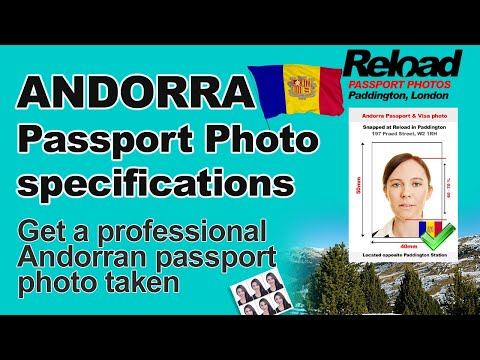Get your Andorran Passport Photo and Visa Photo snapped in Paddington, London