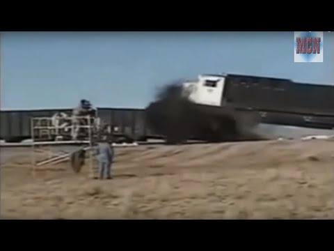 "Thumbnail: TRAIN CRASH TEST COMPILATION !!! AMAZING VIDEO ""SLOW MOTION"""