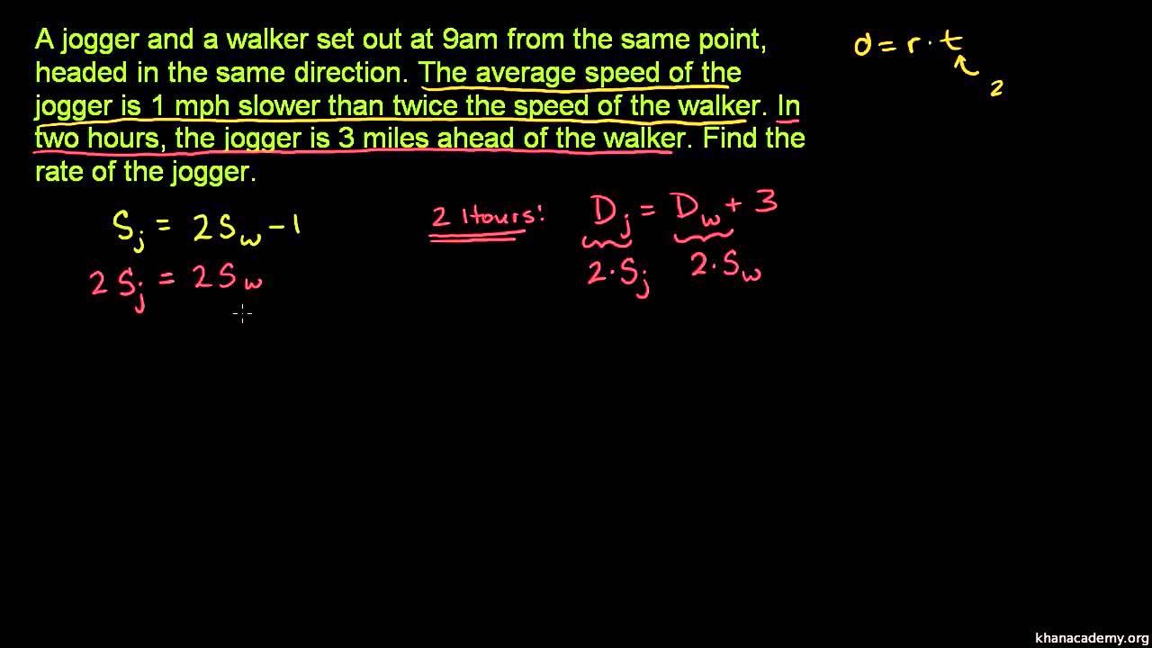 Opgaver med hastighed og ligningssystemer 3