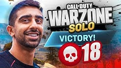 MY FIRST SOLO WIN on WARZONE! (CoD Battle Royale)