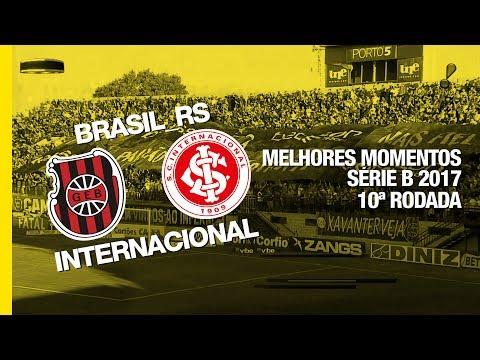 Gol - Brasil-RS 0 x 1 Internacional - Série B - 24/06/2017