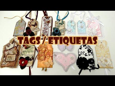 TAGS / Etiquetas 🏷 14 Ideias + 3 Tutoriais ( ARTESANATO, DIY, RECICLAGEM )
