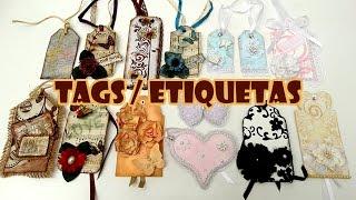 TAGS / Etiquetas – 14 Ideias + 3 Tutoriais ( ARTESANATO, DIY, RECICLAGEM )