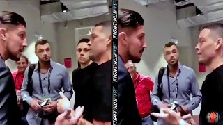 "Nate Diaz Tells Brendan Schaub ""FUCK YOU!"" After Conor McGregor fight"