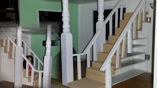 How to make a Doll House Stair Railing