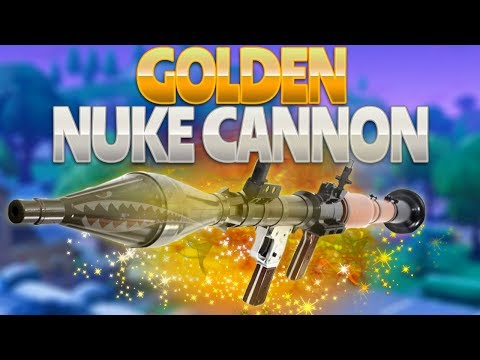 GOLDEN NUKE CANNON (Fortnite Battle Royale)