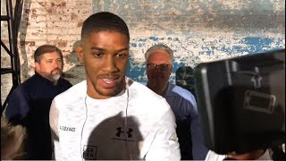 ANTHONY JOSHUA ADMITS HE WAS BLUFFING ABOUT 50 MILLION REACTION