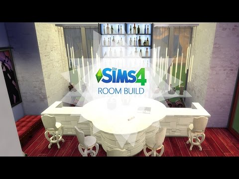 Sims 4 - Room Build -  Rot Weiß Lounge / Red White Lounge