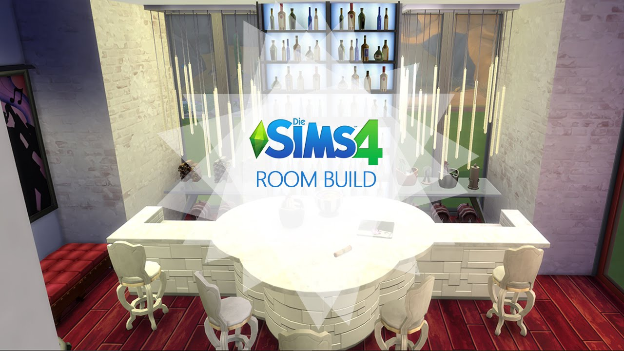 Sims 4 - Room Build - Rot Weiß Lounge / Red White Lounge / Shisha ...