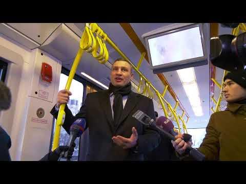 Кличко проїхався новим трамваєм PESA