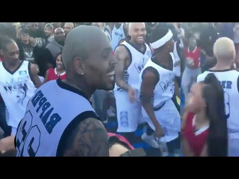 Chris Brown & Snoop Dog Dancing Like CRAZY At All Star NBA Game 2018