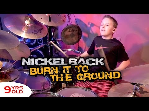BURN IT TO THE GROUND (9 year old Drummer) Drum Cover by Avery Drummer Molek