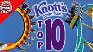 Top 10 BEST Knott's Berry Farm Roller Coasters