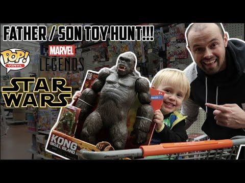 EPISODE 31  TOY HUNTING WITH LITTLE DUDE FOR MARVEL LEGENDS, FUNKO POPS AND KING KONG FIGURE!!!