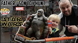 EPISODE 31 - TOY HUNTING WITH LITTLE DUDE FOR MARVEL LEGENDS, FUNKO POPS AND KING KONG FIGURE!!!