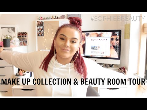 Updated Make Up Collection & Beauty Room Tour 2016 | SophieBBeauty