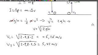 Ejercicio de impulso y cantidad de movimiento 6