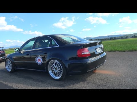 INSANE 1088HP Audi S4 B5  AntiLag FLAMES  Accelerations  YouTube