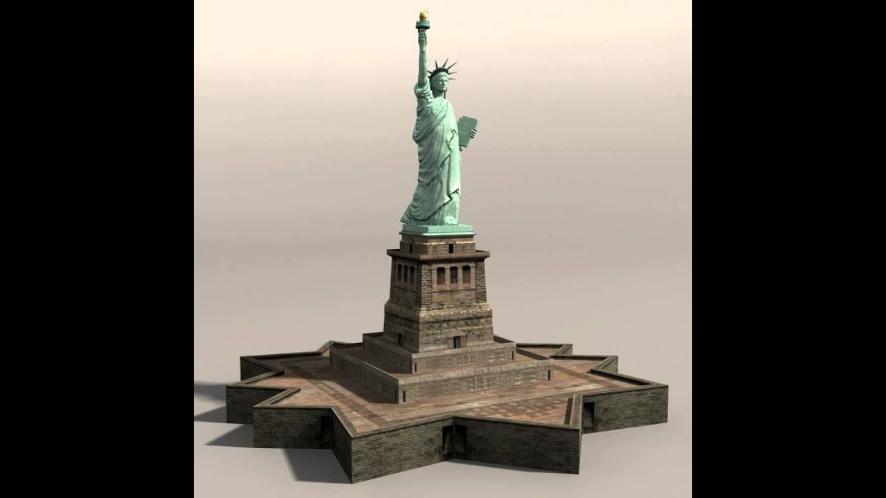 statue of liberty 3d model from cgtrader com youtube