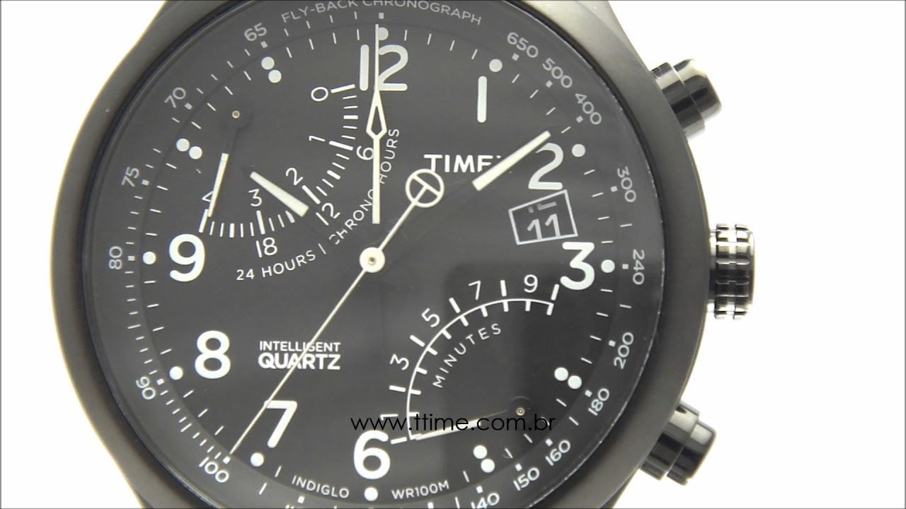 648440efb7f RELÓGIO TIMEX INTELLIGENT QUARTZ TW2P60800WW N - YouTube