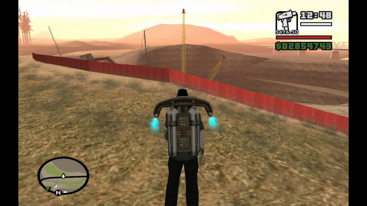 green goo  airstrip mission  5  - gta san andreas - how to get rid of the jetpack