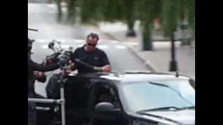 """Arnold Schwarzenegger action scene in the movie """"Sabotage."""""""