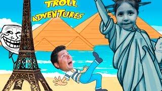 НОВОЕ ПУТЕШЕСТВИЕ ТРОЛЛЯ смешное видео для детей TROLLFACE ADVENTURE kids children