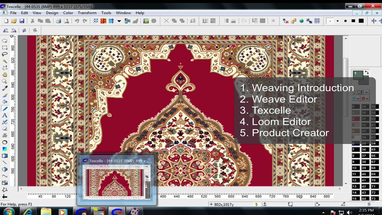 Nedgraphics Software Textile Jacquard Designing Youtube