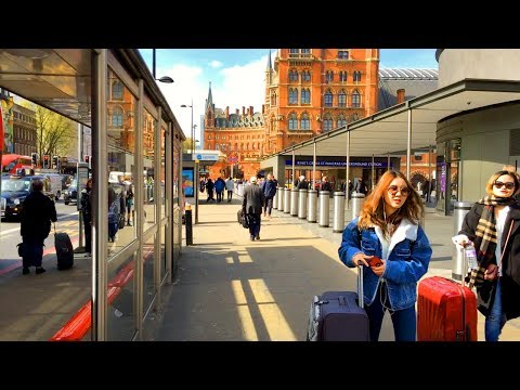 LONDON WALK | King's Cross to The British Library and Euston Road | England