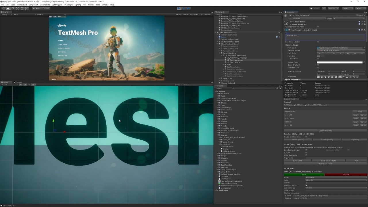 TextMesh Pro in Unity 2018 3