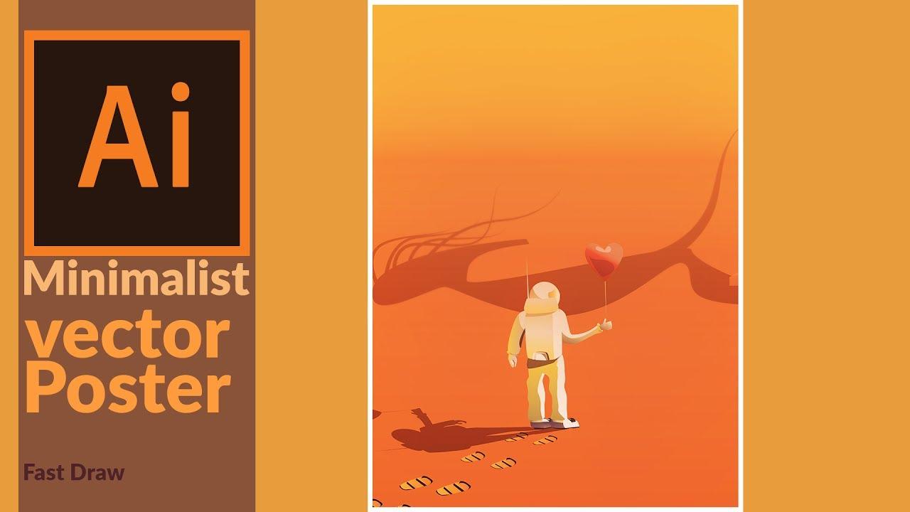 Wallpaper Illustration Graphic Design Roar Movie: Designing A Minimalist Movie Style Poster Design In Adobe