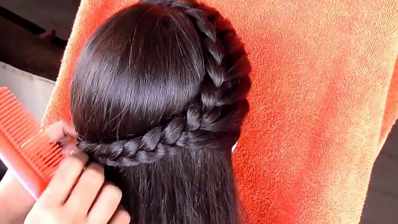 hairstyle for medium hair || medium hair hairstyle for girls - youtube