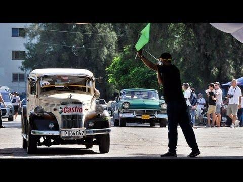 Cuba's antique car rally sets off in Havana