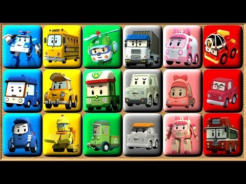 Robocar Poli Learn Colors Video For Kids - Puzzle Games