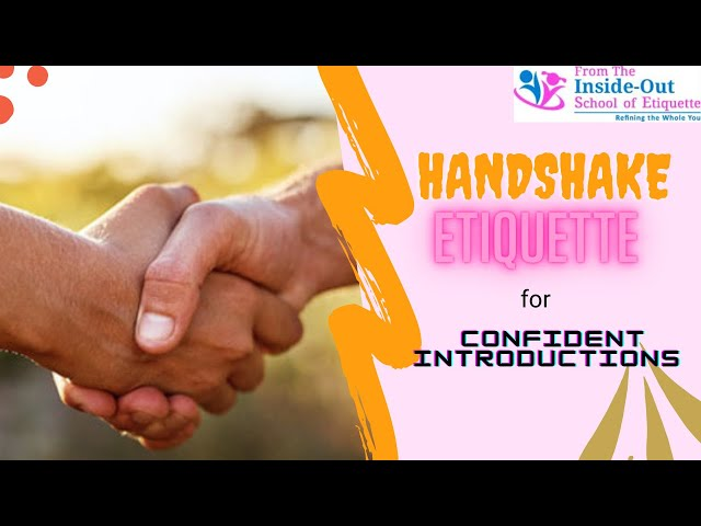 How to Shake Hands like a Gentleman - Handshake Etiquette for Confident Introductions