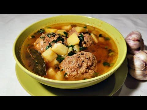 Суп с фрикадельками. Армянский суп Кололак.