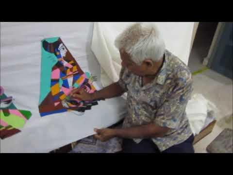 How to make Batik painting?