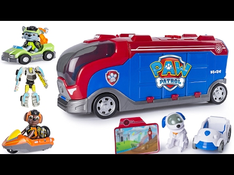 Paw Patrol Mission Cruiser Patroller, Zuma's Hydro Ski, Rocky's Repair Kart, Transformers Bumblebee