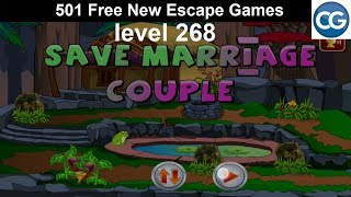 [Walkthrough] 501 Free New Escape Games level 268 - Save marriage couple - Complete Game