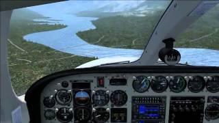 Landing at Revelstoke Cessna 340 FSX