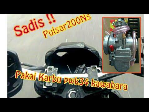 KAWASAKI Pulsar200ns Karburator PWK.34 Kawahara - YouTube