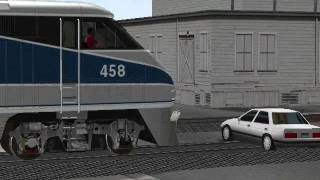 MSTS Amtrak #769 departs Santa Barbara with a driver that won