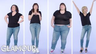 Women Sizes 0 Through 28 Try on the Same Skinny Jeans | Glamour