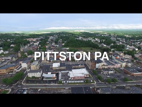 Pittston, Pennsylvania in the Summer   Incredible Small Town Drone Flyovers